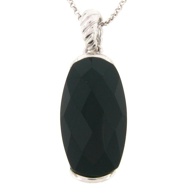 Meredith Leigh Sterling Silver Onyx Necklace