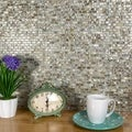 SomerTile 11.75x11.75-in Seashell Subway Perla Mosaic Tile (Pack of 10)