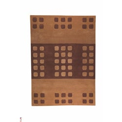 Hand-tufted Domi Brown Wool Rug (6'6 x 9'9)