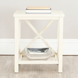 Safavieh Otley White Cross Back End Table