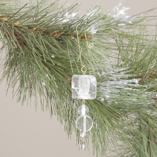 Clear Glass Christmas Hanging Ornament (India)