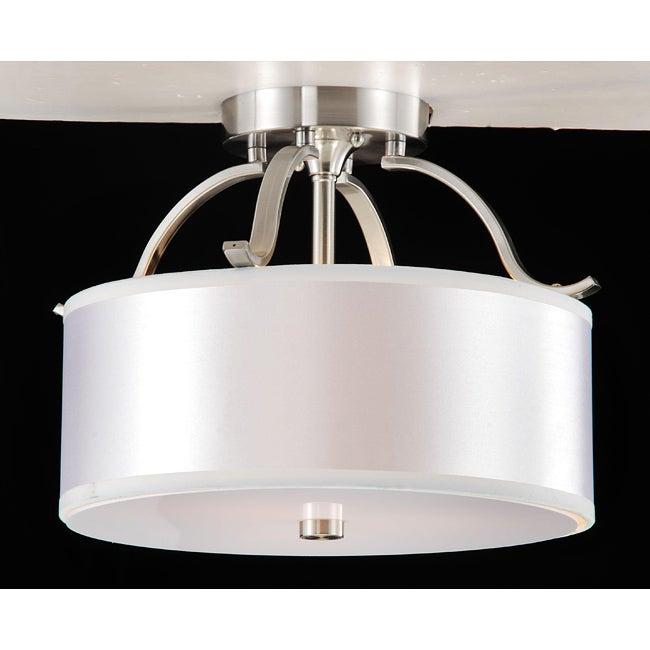 Altea 3-light Curved Nickel Semi Flush Chandelier