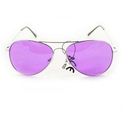 Women's 30011c Silvertone Aviator Sunglasses