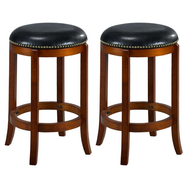 Jackson Bicast Leather Cherry Counter Stools (Set of 2)