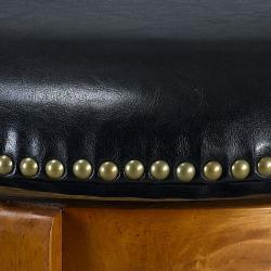 Jackson Bicast Leather Dark Oak Swivel Bar Stools (Set of 2)