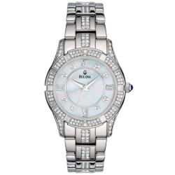 Bulova Women's 96L116 Stainless Steel Crystal Accented Sport Watch