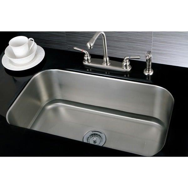 Single Bowl 30-inch Stainless Steel Undermount Kitchen Sink