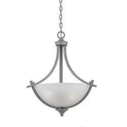 3-light Silver Finish Pendant