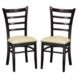 Keitaro Dark Brown Modern Dining Chairs (Set of 2)