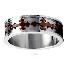 Stainless Steel Cross Ring