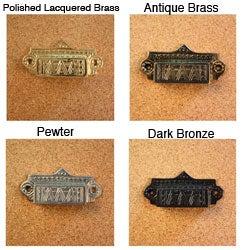 Solid Brass Vintage Ashby Bin Pull (Set of 4)