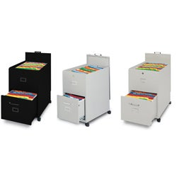 Mayline Mobilizers File Cabinet with Lock and Key