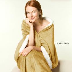 Luxurious Sherpa/Microplush Three-in-one Softie Wrap