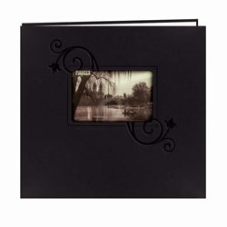 Pioneer Photo Albums 12x12 Black Leatherette Memory Book (20 Bonus Pages)
