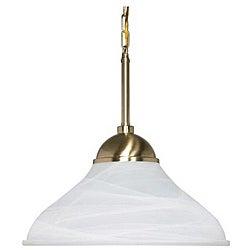 Energy Star 1-light Brass Pendant Light