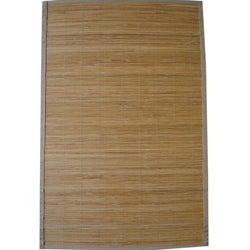 Asian Hand-woven Natural Bamboo Rug (1'9 x 2'10)