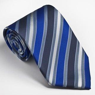 Platinum Ties Men's Blue Striped Tie