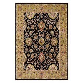 Alliyah Handmade Moon Indigo New Zealand Blend Wool Rug (9' x 12')