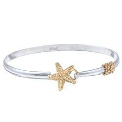 La Preciosa Goldplated Sterling Silver Cape Cod Starfish Bangle