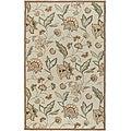 Hand-hooked Bliss Beige/Green Indoor/Outdoor Floral Rug (9' x 12')