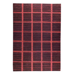 Hand-knotted Pian Brown Wool Rug (6'6 x 9'9)