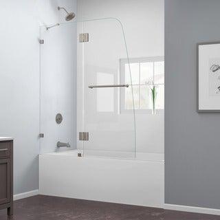 DreamLine AquaLux 48 x 58 Frameless Hinged Tub Door