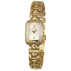 Seiko Women's 'Diamond' Goldplated Steel Quartz Watch