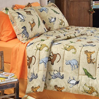 Zoolicious 6-piece Twin-size Bed in a Bag with Sheet Set