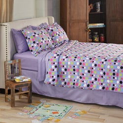 Dot 6-piece Twin XL-size Bed in a Bag with Sheet Set