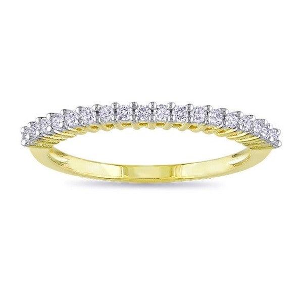 Haylee Jewels Yellow Plated 1/5ct TDW Diamond Wedding Band