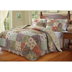 Blooming Prairie Twin-size 2-piece Quilt Set