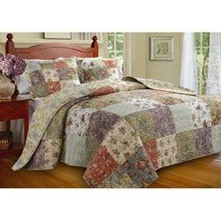 Blooming Prairie Full-size 3-piece Bedspread Set