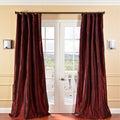 Solid Faux Silk Taffeta Syrah Curtain Panel