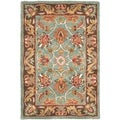 Safavieh Handmade Heritage Blue/ Brown Wool Rug (2' x 3')