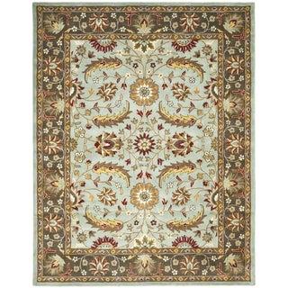Safavieh Handmade Heritage Blue/ Brown Wool Rug (8'3 x 11')