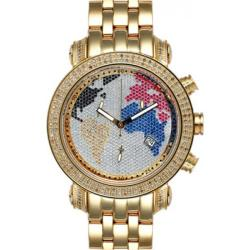 Joe Rodeo Classic Men's World Map Diamond Watch