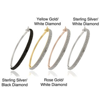 Sterling Silver Diamond Accent Bangle Bracelet