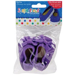 Springfield Collection Purple Doll Shoes