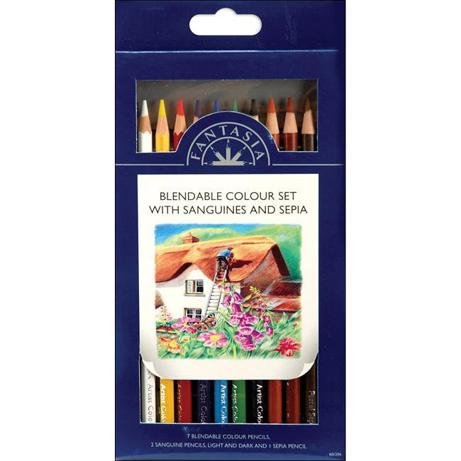 Pro Art Fantasia 10-piece Blendable Color Pencil Set