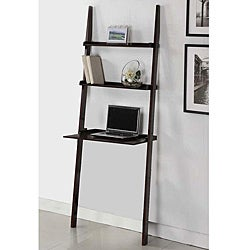 Cappuccino 3-tier Leaning Ladder Shelf