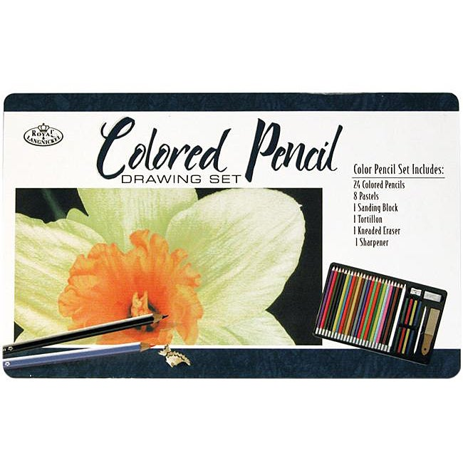 Colored Pencil 36-pieces Drawing Tin Set