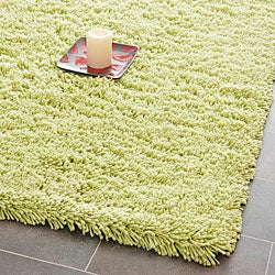 Safavieh Hand-woven Bliss Lime Green Shag Rug (8'6 x 11'6)
