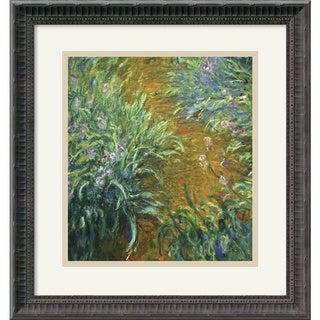Claude Monet 'The Path in the Iris Garden' Framed Art Print