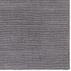 Hand-crafted Solid Grey Casual Ridges Wool Rug (7'6 x 9'6)