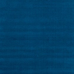 Hand-crafted Solid Blue Causal Ridges Wool Rug (6' x 9')