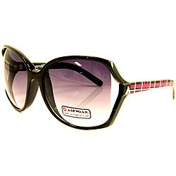 Airwalk Women's 'Bogus' Black Oversized Sunglasses