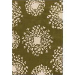 Thomaspaul Ivory Floral Hand-tufted New Zealand Wool Rug (7'9 x 10'6)