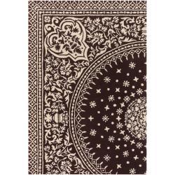 Thomaspaul Ivory Oriental Hand-tufted New Zealand Wool Rug (5' x 7'6)