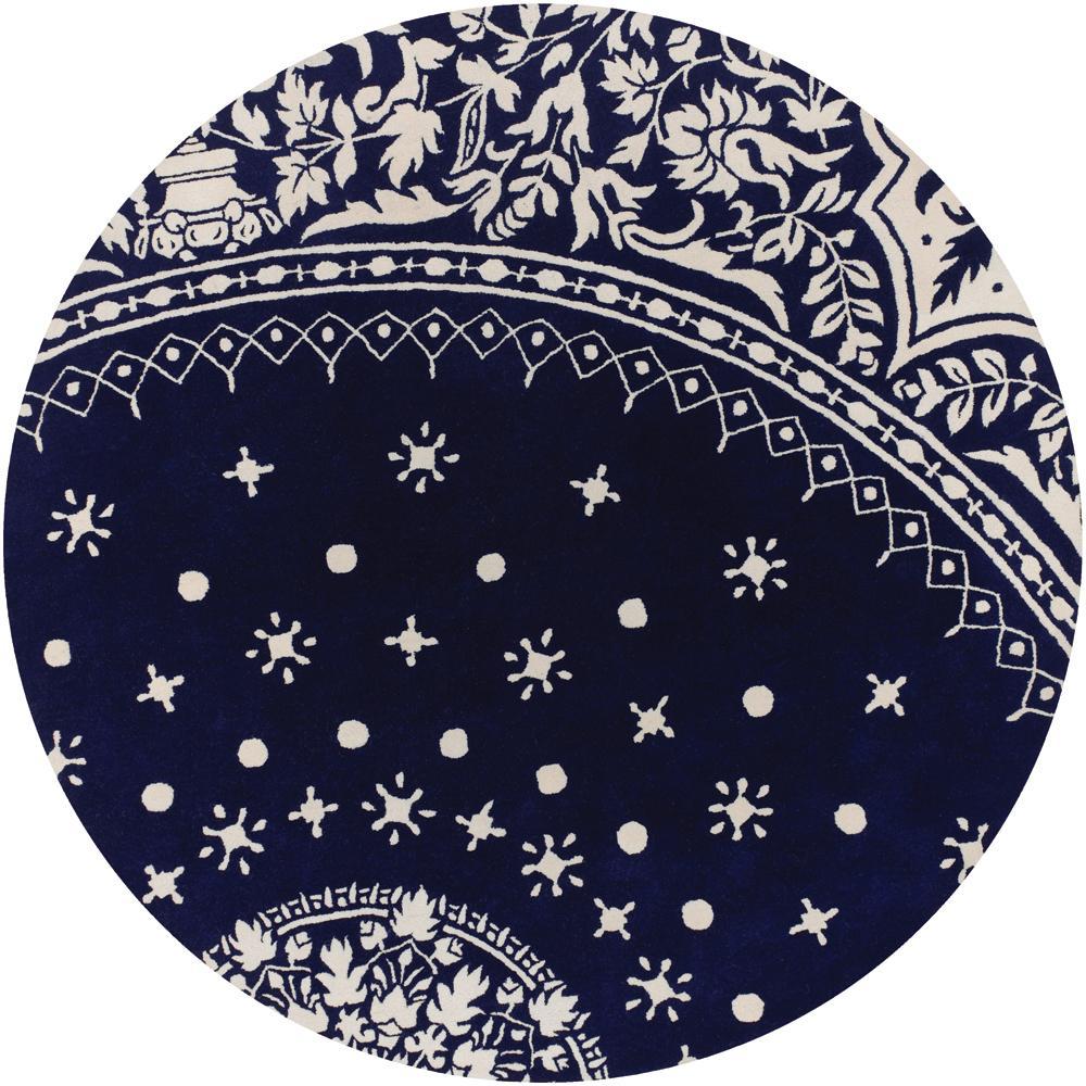 New Persian Hand Tufted Wool Oval Area Rug: Thomaspaul Blue Oriental Hand-tufted New Zealand Wool Rug