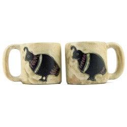 Set of 2 Mara Stoneware 16-oz Quail Mugs (Mexico)